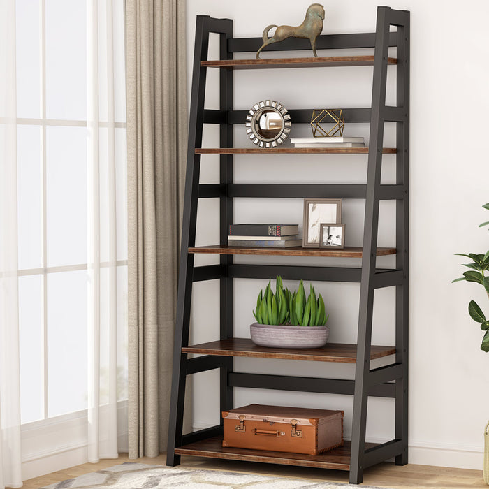 Tribesigns 5-Tier Bookshelf Industrial Bookcase,Home Office
