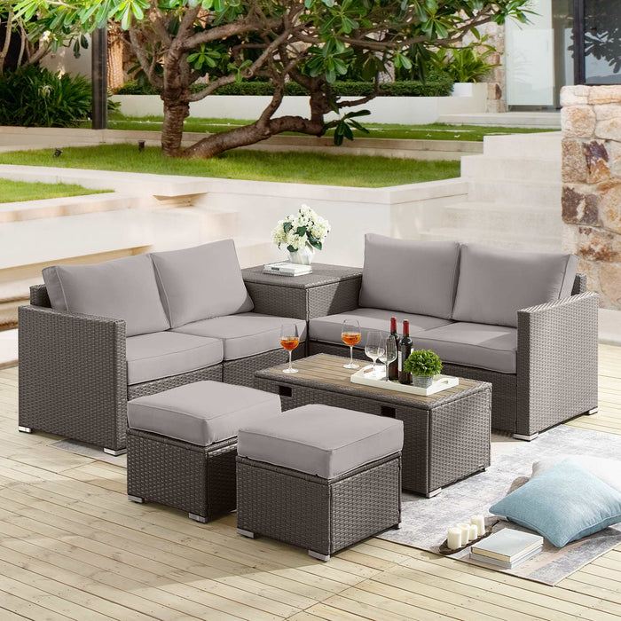 Tribesigns 8 Piece Outdoor Patio Sets, Conversation Wicker Sofa Furniture Set Patio Sectional Rattan Sofa Set