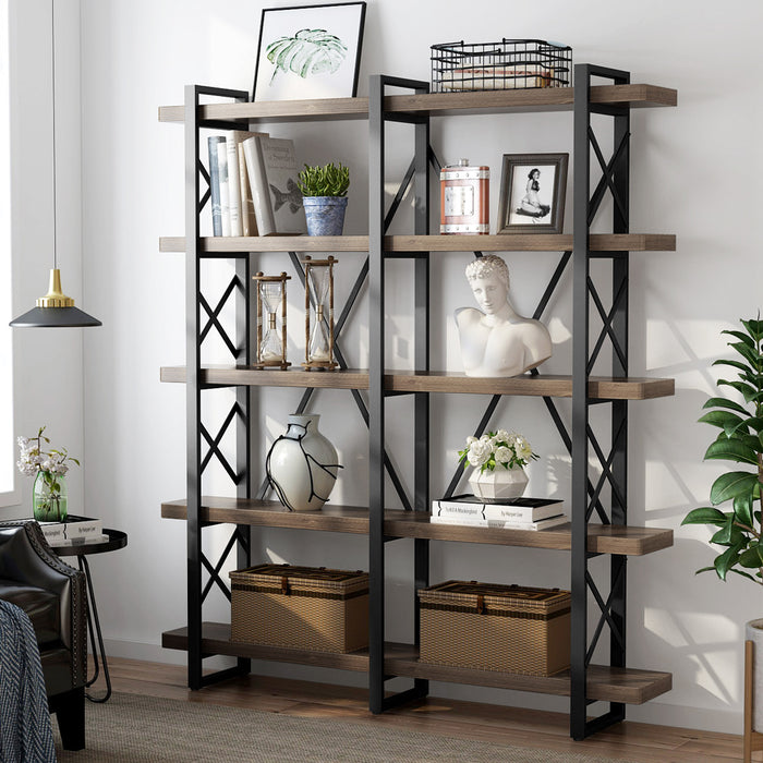 Tribesigns Bookcase, 47.24 Inches Solid Wood
