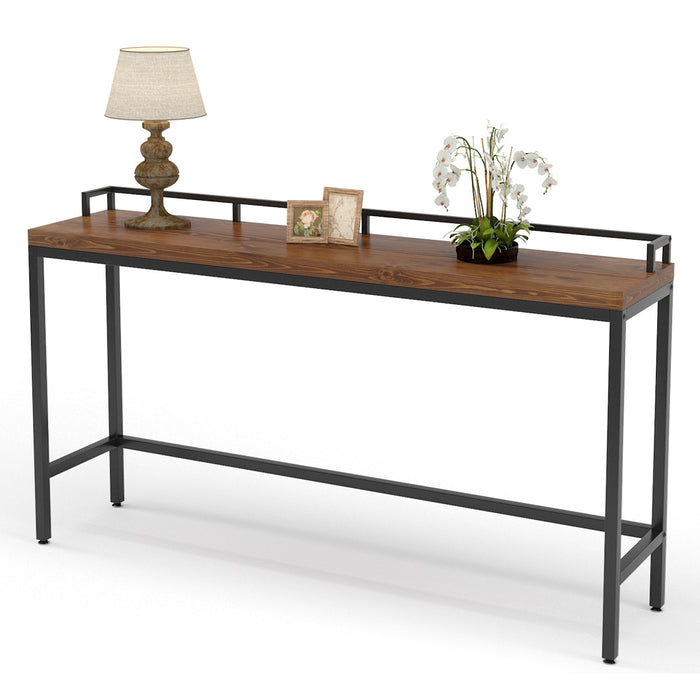 Tribesigns 70.9 inch Extra Long Solid Wood Console Table Behind Sofa Couch