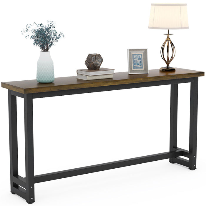 Tribesigns 70.9 Inches Extra Long Industrial Sofa Table, Wood Behind Couch Table
