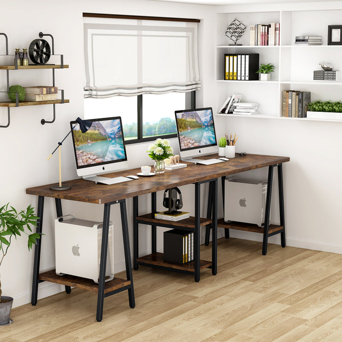 Tribesigns 94 5 Inches Computer Desk Extra Long Two Person Desk With