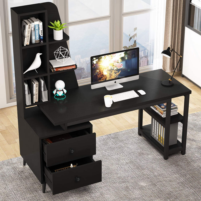 Tribesigns Computer Desk with Drawers, Functional Writing Desk for Home Office