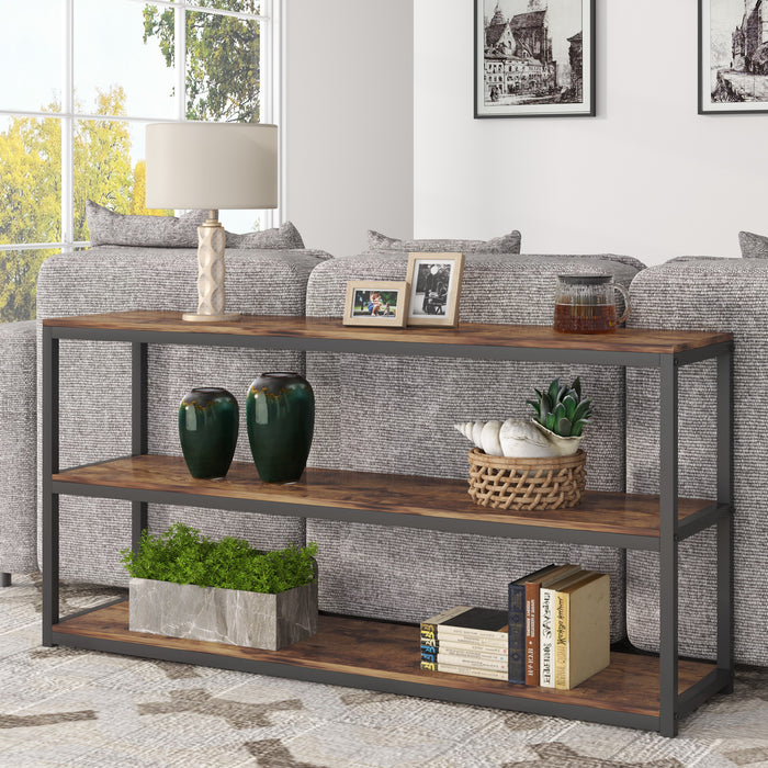 Modern Console Sofa 3-Tier Open Shelf, Entryway/Hallway Table for Living Room