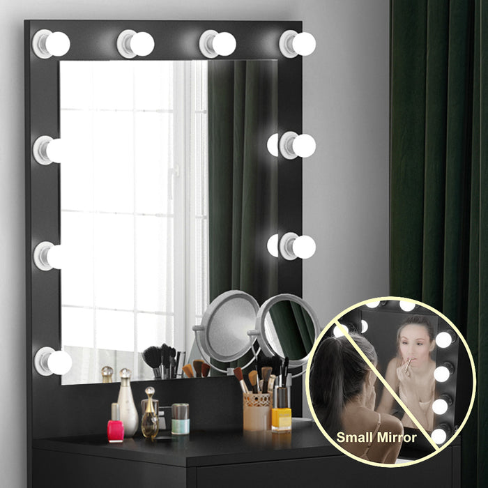 Tribesigns Vanity Set with Lighted Mirror, Makeup Vanity Dressing Table Dresser Desk with Large Drawer