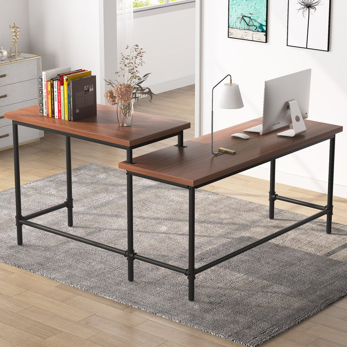 Tribesigns 2-Person Computer Desk, Double Workstation Writing Desk