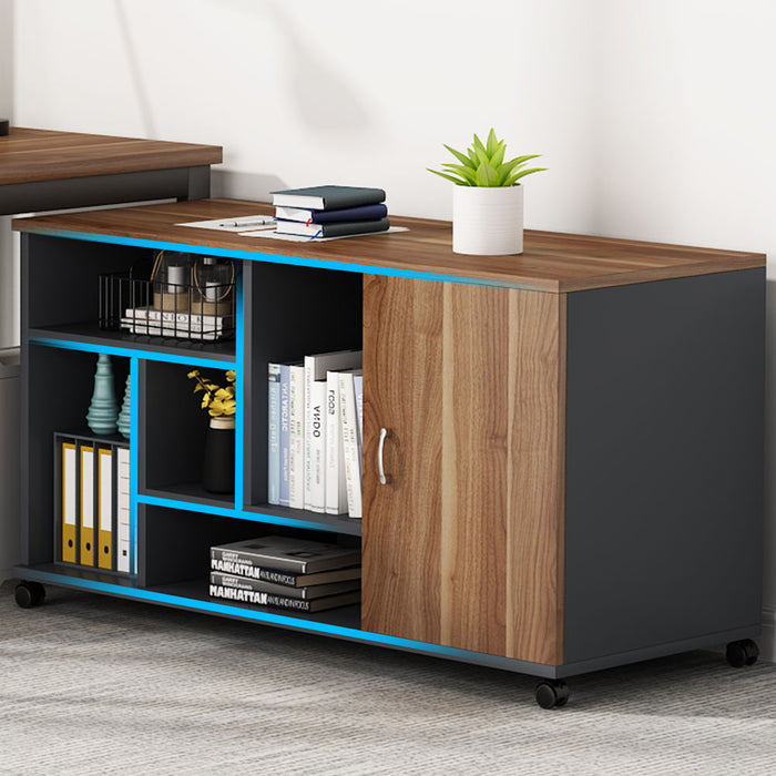 Tribesigns L-Shaped Desk with Storage Cabinet