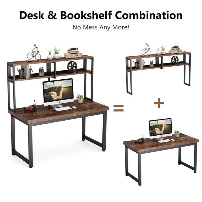 Tribesigns Computer Desk with Hutch Writing Desk for Home Office
