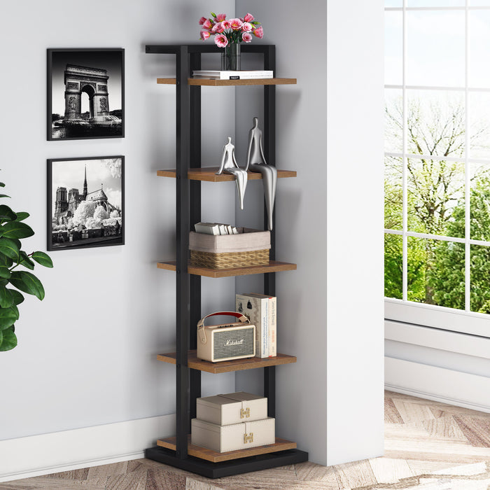 Tribesigns Small Bookcase 5-Tier Shelf Storage Rack for Home Office, Small Space