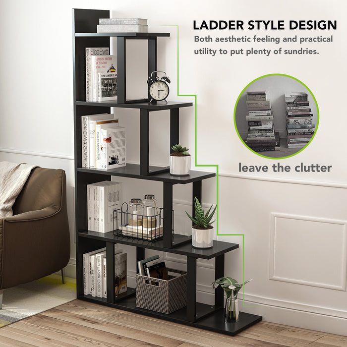 Tribesigns 5-Shelf Ladder Corner Bookshelf, Modern Simplism Style