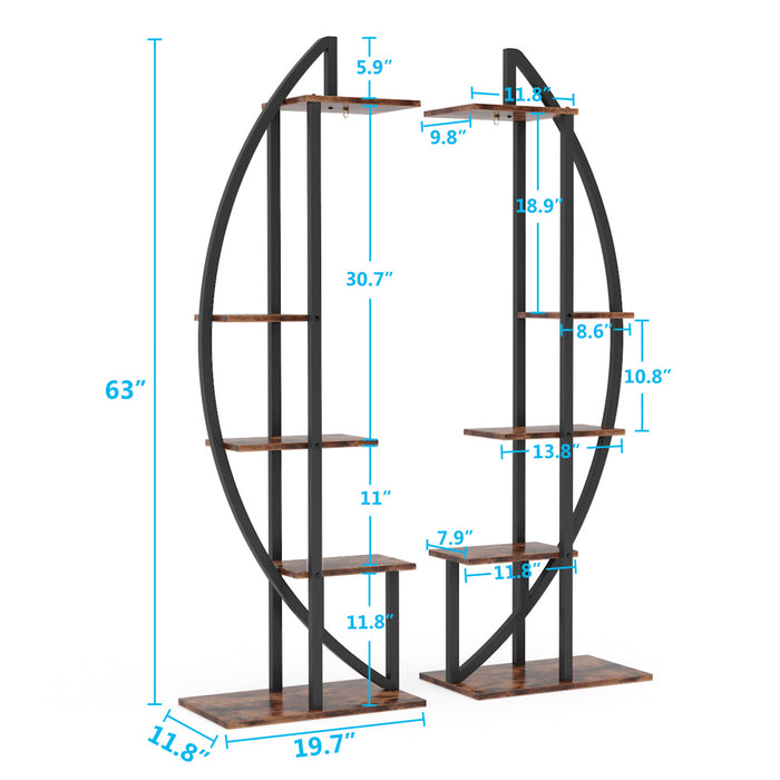 Tribesigns 5-Tier Plant Stand Pack of 2