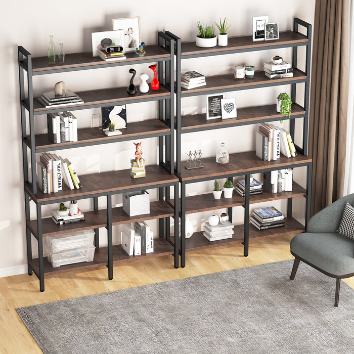 Tribesigns 6 Tiers Bookcase Industrial Style Display Shelf for Home Office