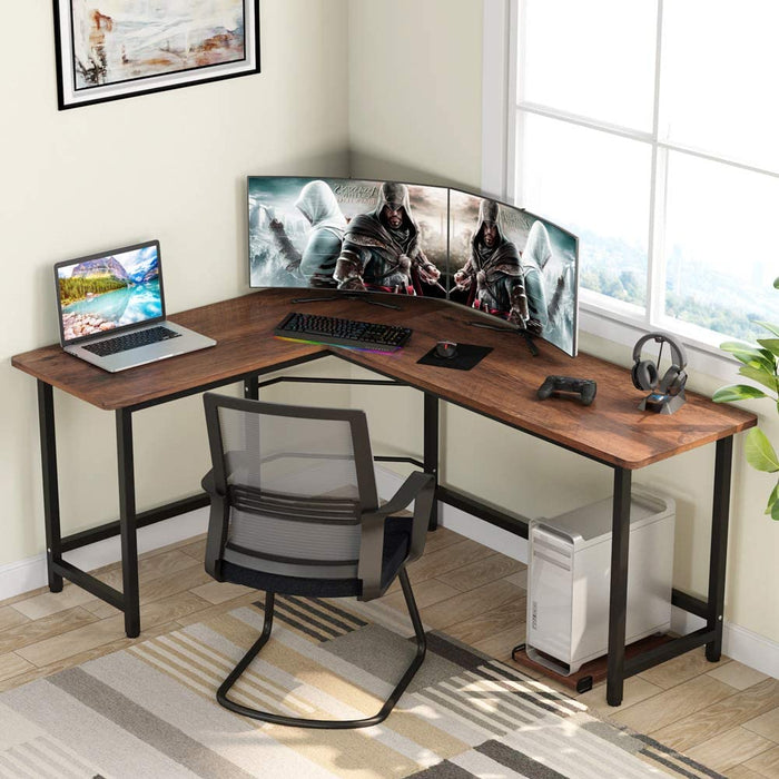 Tribesigns Modern L-Shaped Desk Corner Computer Desk PC Laptop Study Table