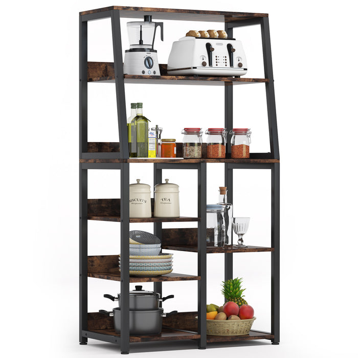 Tribesigns 8-Tier Industrial Baker's Rack with Storage Shelves, Free Standing Microwave Oven Stand Spice Rack