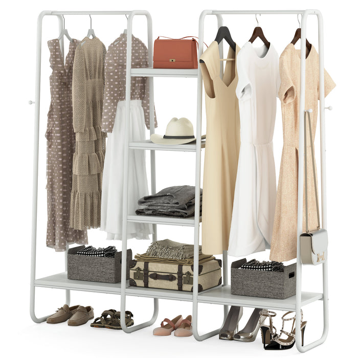 Tribesigns Computer Desk with Hutch, 55-Inch Large Gaming Desk with Storage Shelves
