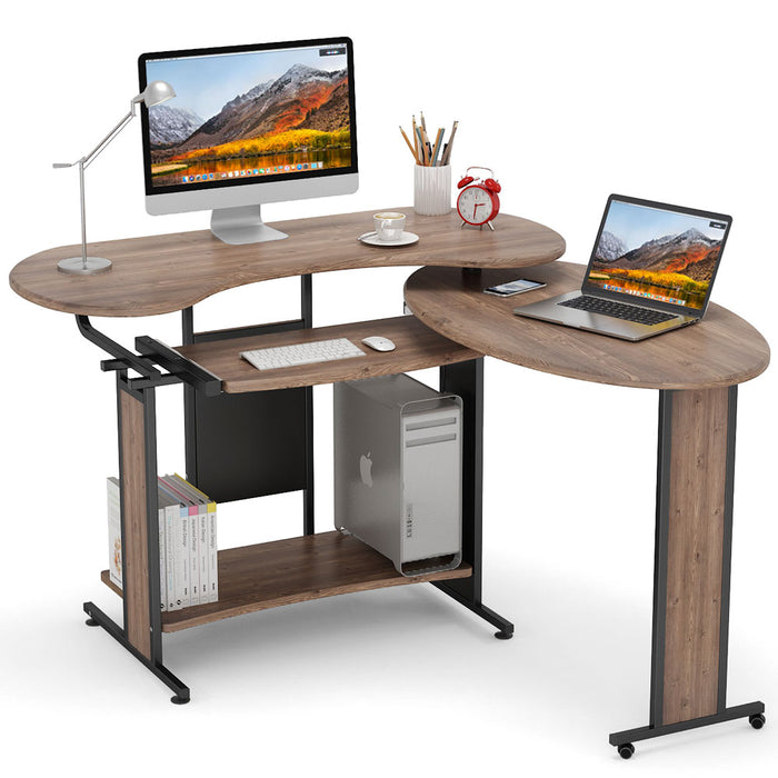 Tribesigns L-Shaped Computer Desk,Rotating Corner Desk