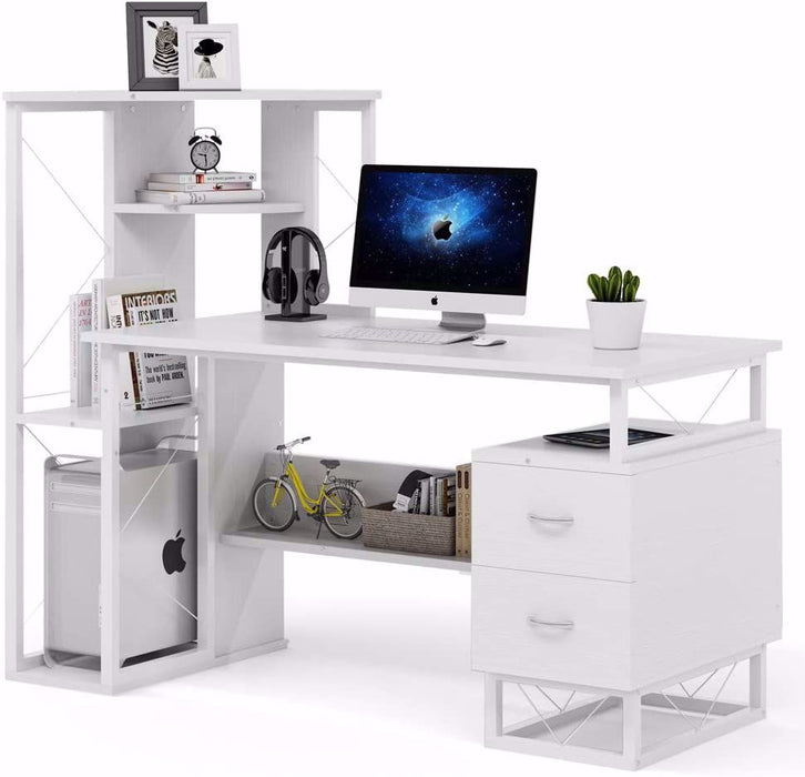 Tribesigns Computer Desk with Drawers, Functional Writing Desk