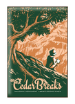 Illustration of tourist at Cedar Breaks National Monument