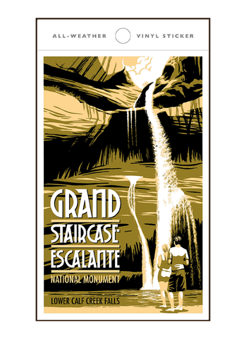 Illustration of tourists at Grand Staircase Escalante National Monument