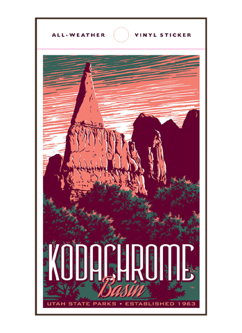 Vintage-style illustration of Kodachrome Basin State Park