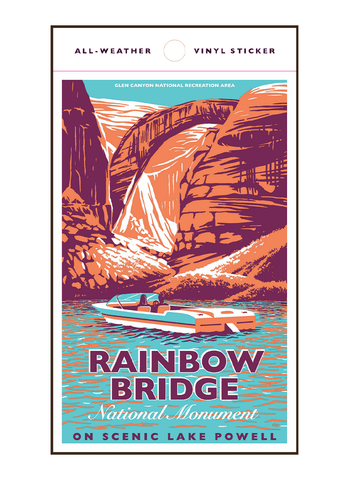 Illustration of boat at Rainbow Bridge National Monument