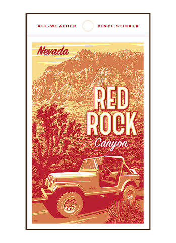 Illustration of jeep at Red Rock Canyon Nevada