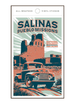 Illustration of vintage car at Salinas Pueblo Missions National Monument