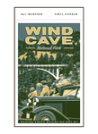 Illustration of vintage car and family at Wind Cave National Park