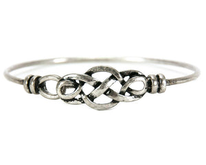 Celtic Knot Bangle - Pewter finish