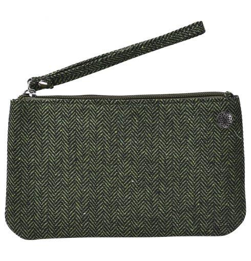 Herringbone Tweed Wristlets