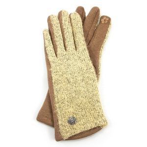 Light Tan Gloves with Celtic Button