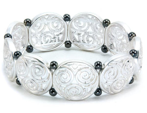 Triskele Stretch Bracelet - Two-Tone