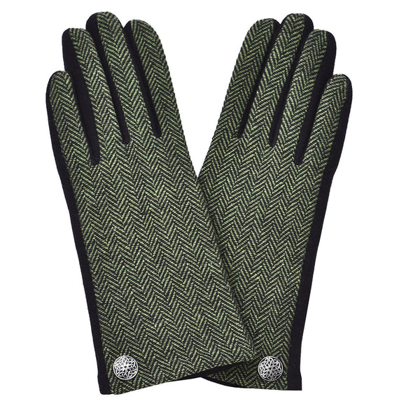 Celtic Herringbone Tweed Gloves