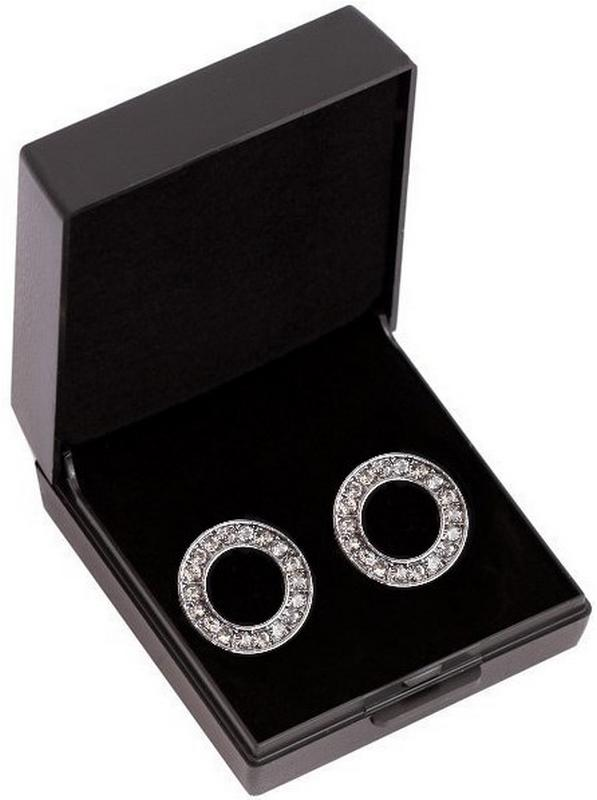 SD Oorbellen Rond - Black Diamond