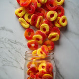 sanded gummy peach rings