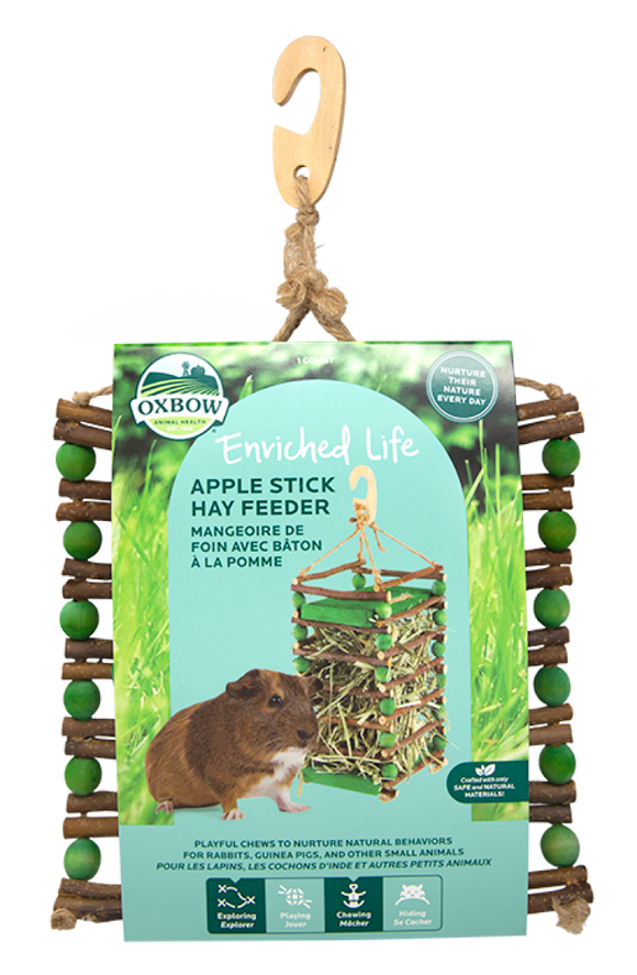 Oxbow Enriched Life - Apple Stick Hay Feeder