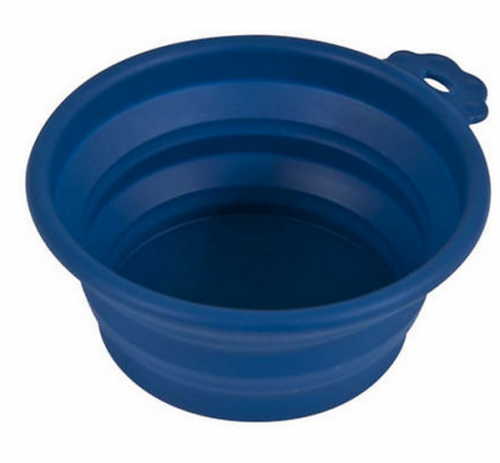Petmate Silicone Blue Collapsible Travel Bowl