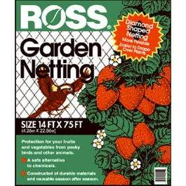 Garden Netting, 3/4-In. Diamond/Black Mesh, 14 x 75-Ft.