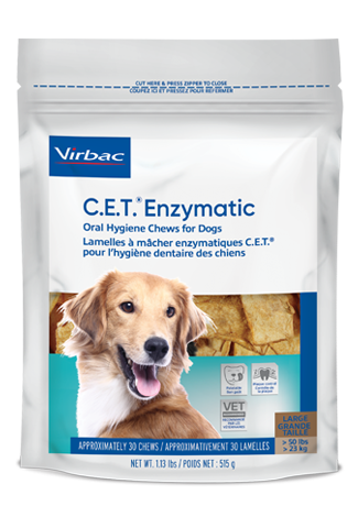 Virbac C.E.T.® Enzymatic Oral Hygiene Chews for Dogs