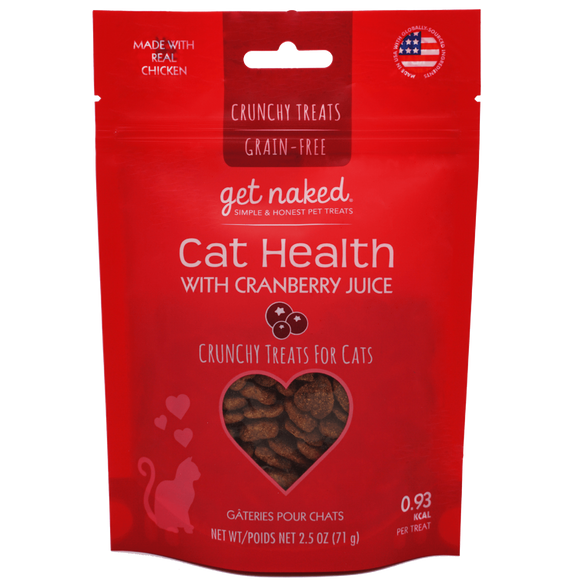 Get Naked Cat Health with Cranberry Juice Crunchy Treats