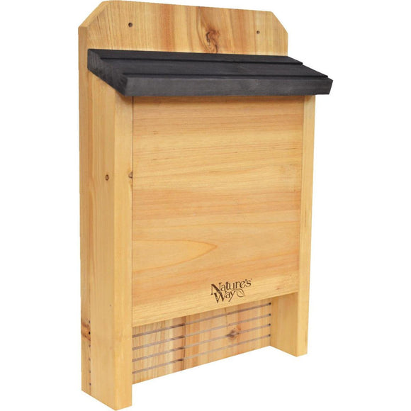 Nature's Way 10 In. W. x 15 In. H. x 3.5 In. D. Single Chamber Cedar Bat House