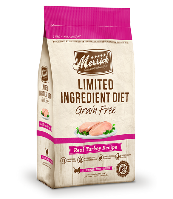 Merrick Limited Ingredient Diet Grain Free Real Turkey Recipe Dry Cat Food