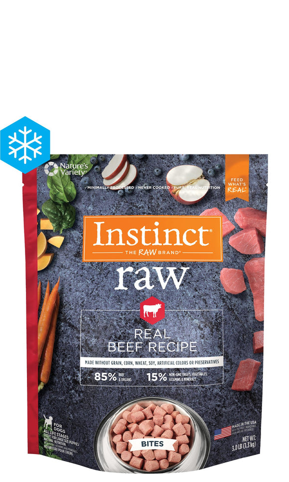 Instinct Raw Frozen Bites Real Beef Recipe