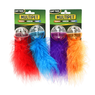 Multipet Lattice Ball with Feather