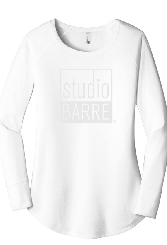 Studio Barre White Long Sleeve Tunic