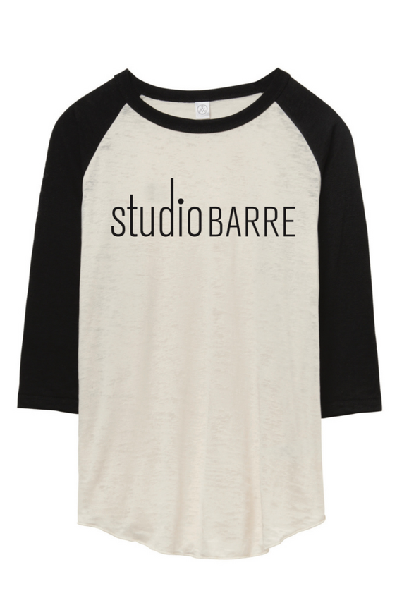Studio Barre Burnout Baseball Tee