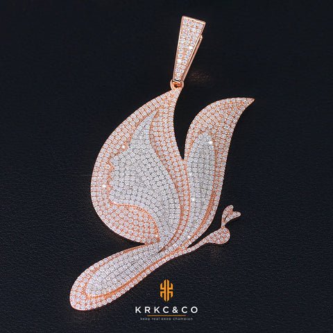krkc butterfly pendant with Miami Cuban link chains wholesale