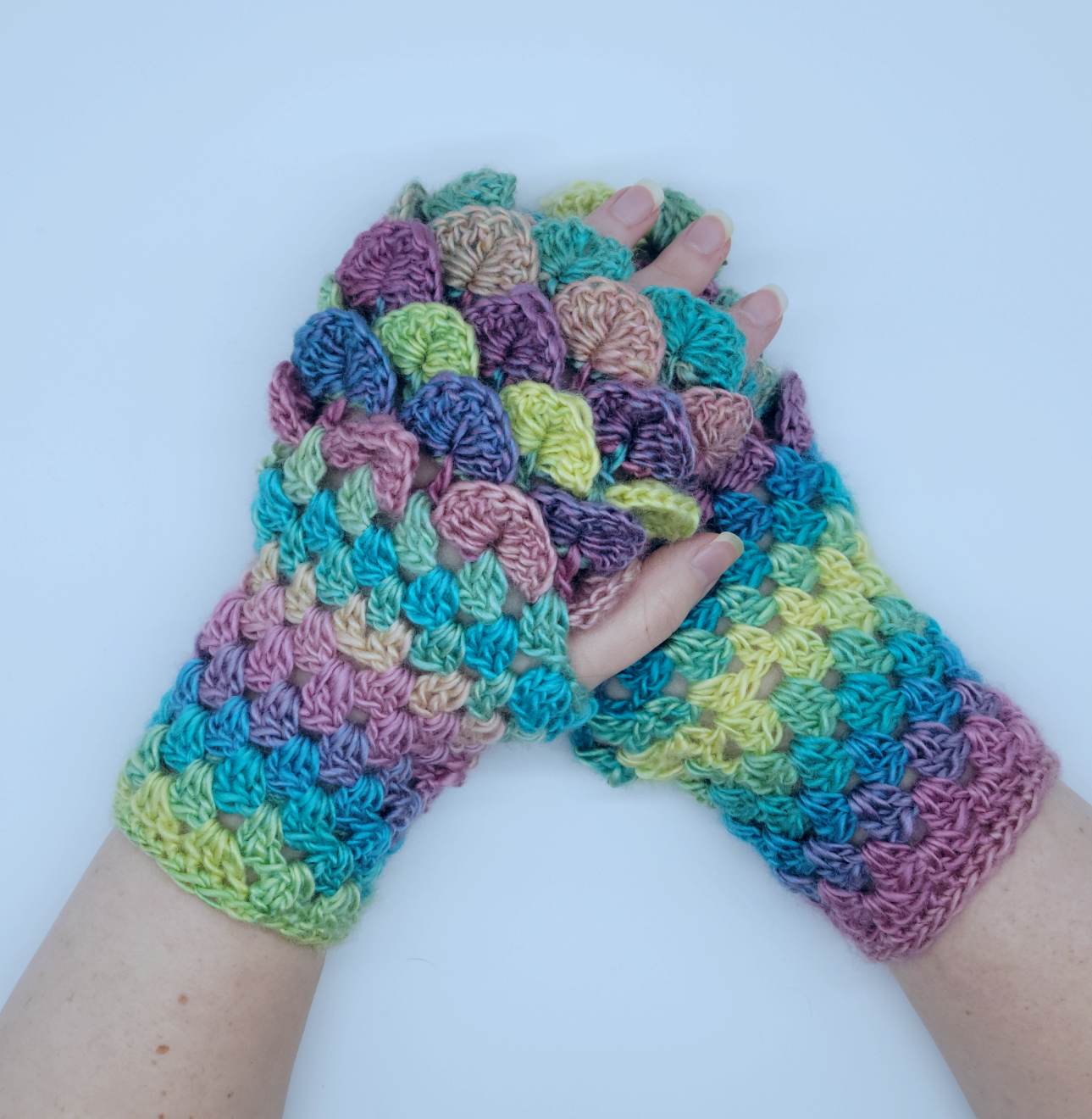Dragon Scale Fingerless Gloves