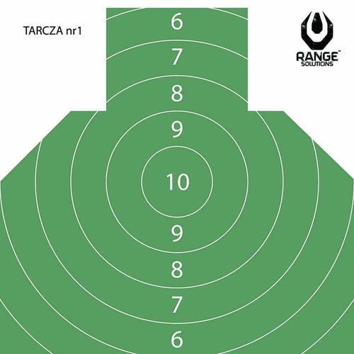 Range Solutions T-1 targets, green coloured targets with precision rings