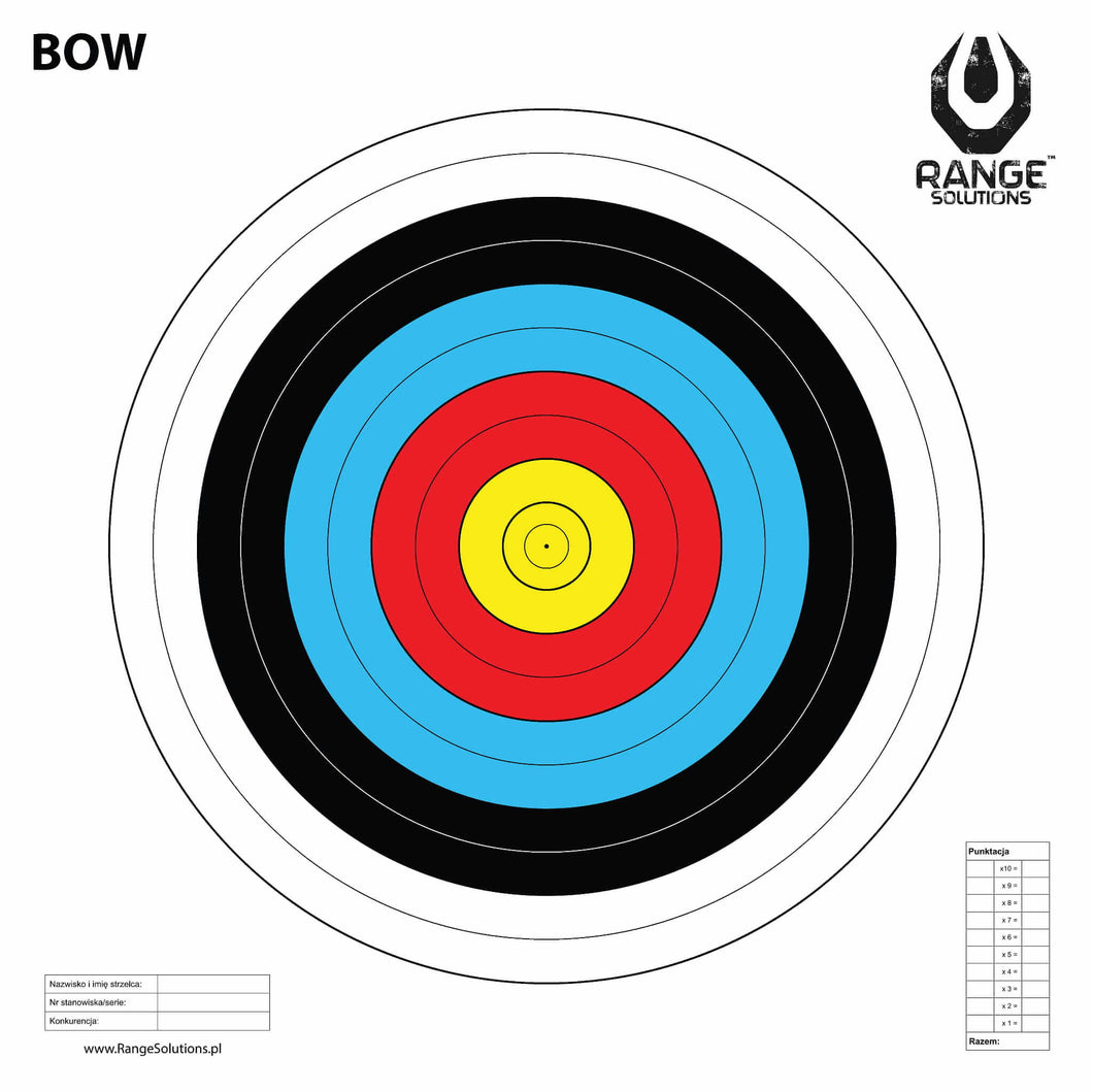 Range Solutions BOW target, archery paper target